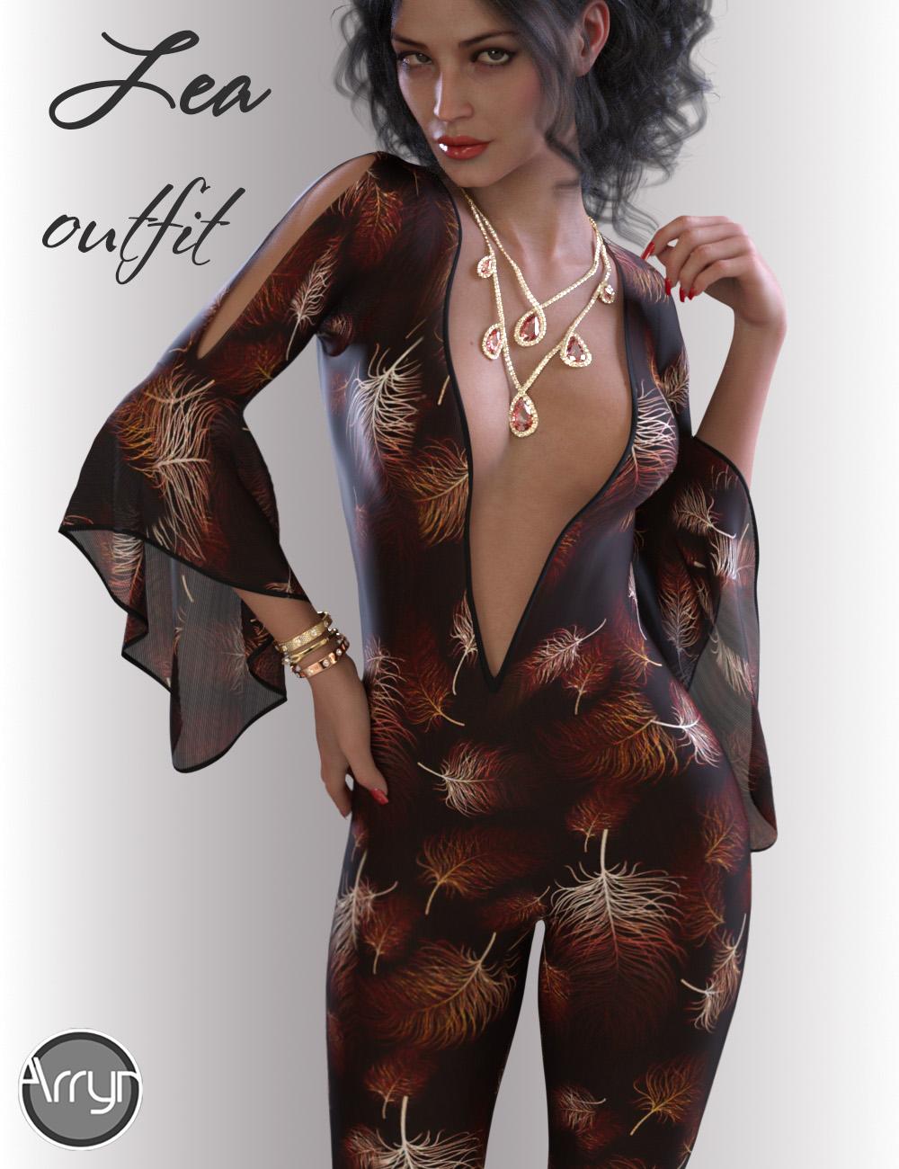 dForce Lea Homewear Outfit for Genesis 8.1 Females by: OnnelArryn, 3D Models by Daz 3D