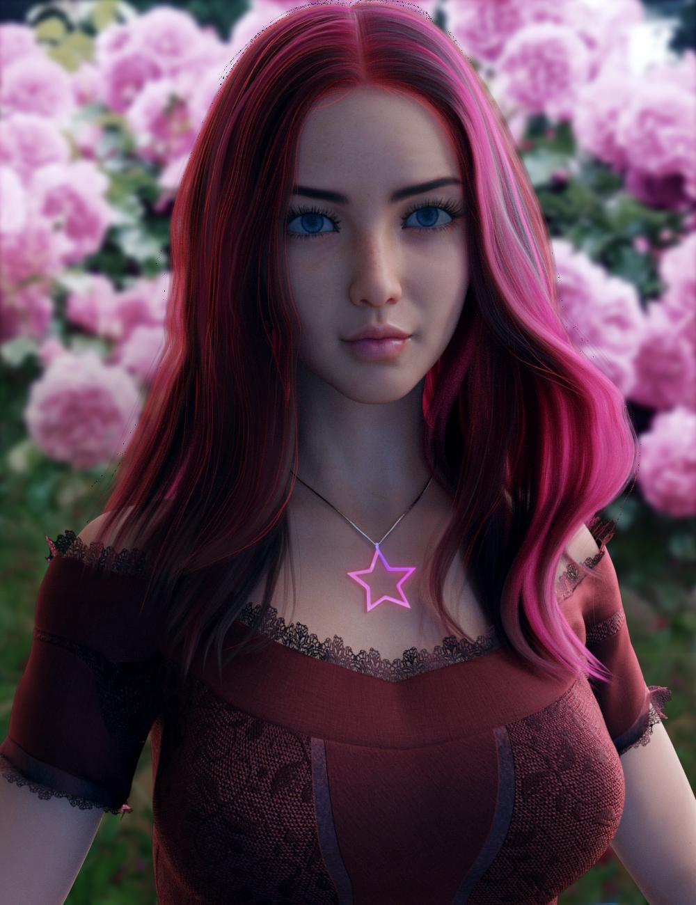 Vo Rose for Genesis 8.1 Female by: VOOTW, 3D Models by Daz 3D