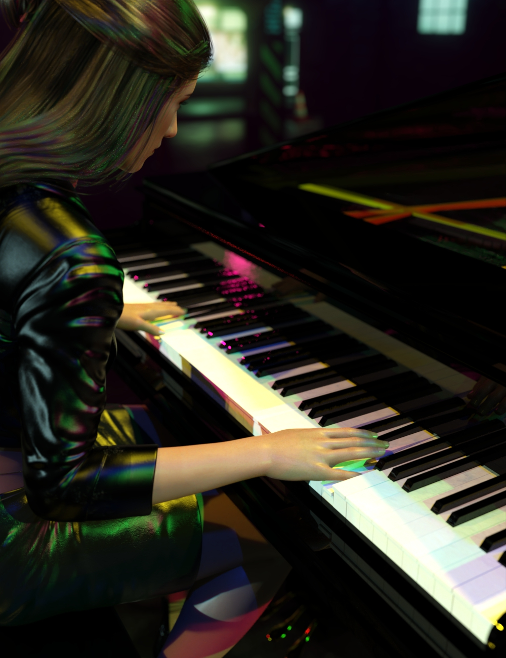 Rock Star Series - Grand Piano by: Sixus1 Media, 3D Models by Daz 3D
