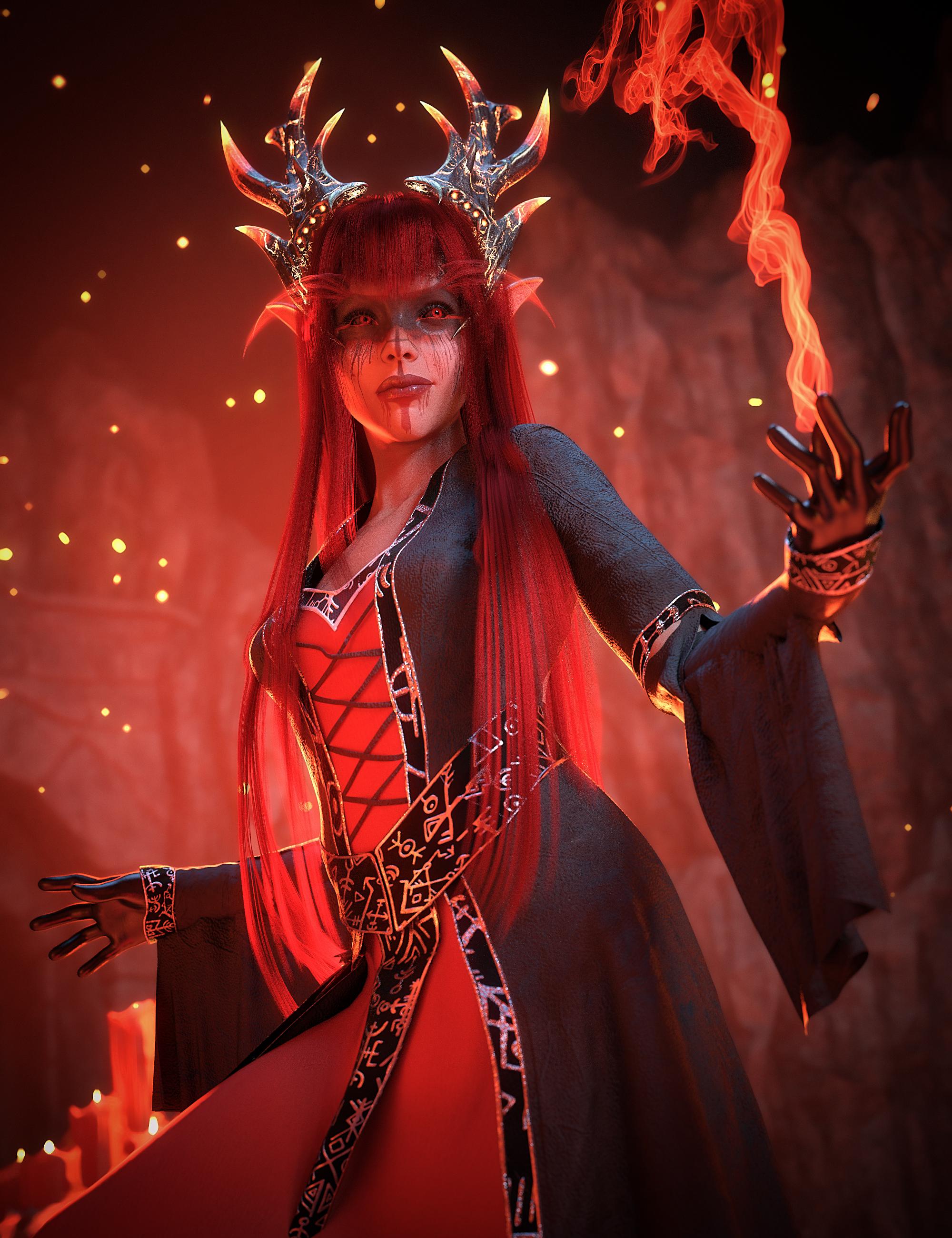 White Priestess Spell Caster Bundle by: , 3D Models by Daz 3D