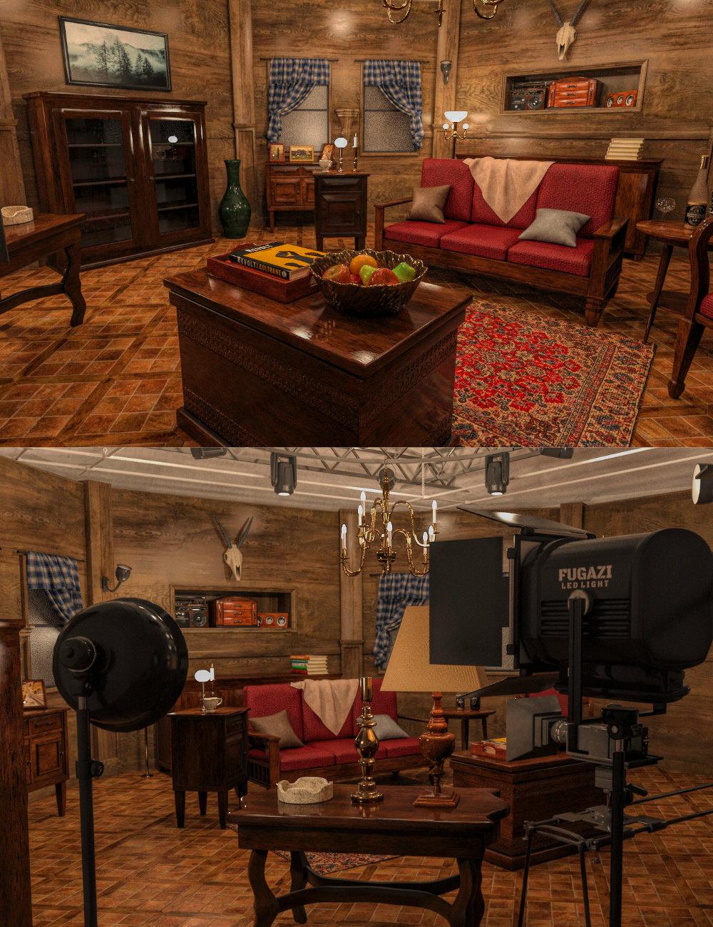 FG Movie Room by: Fugazi1968PAN StudiosIronman, 3D Models by Daz 3D