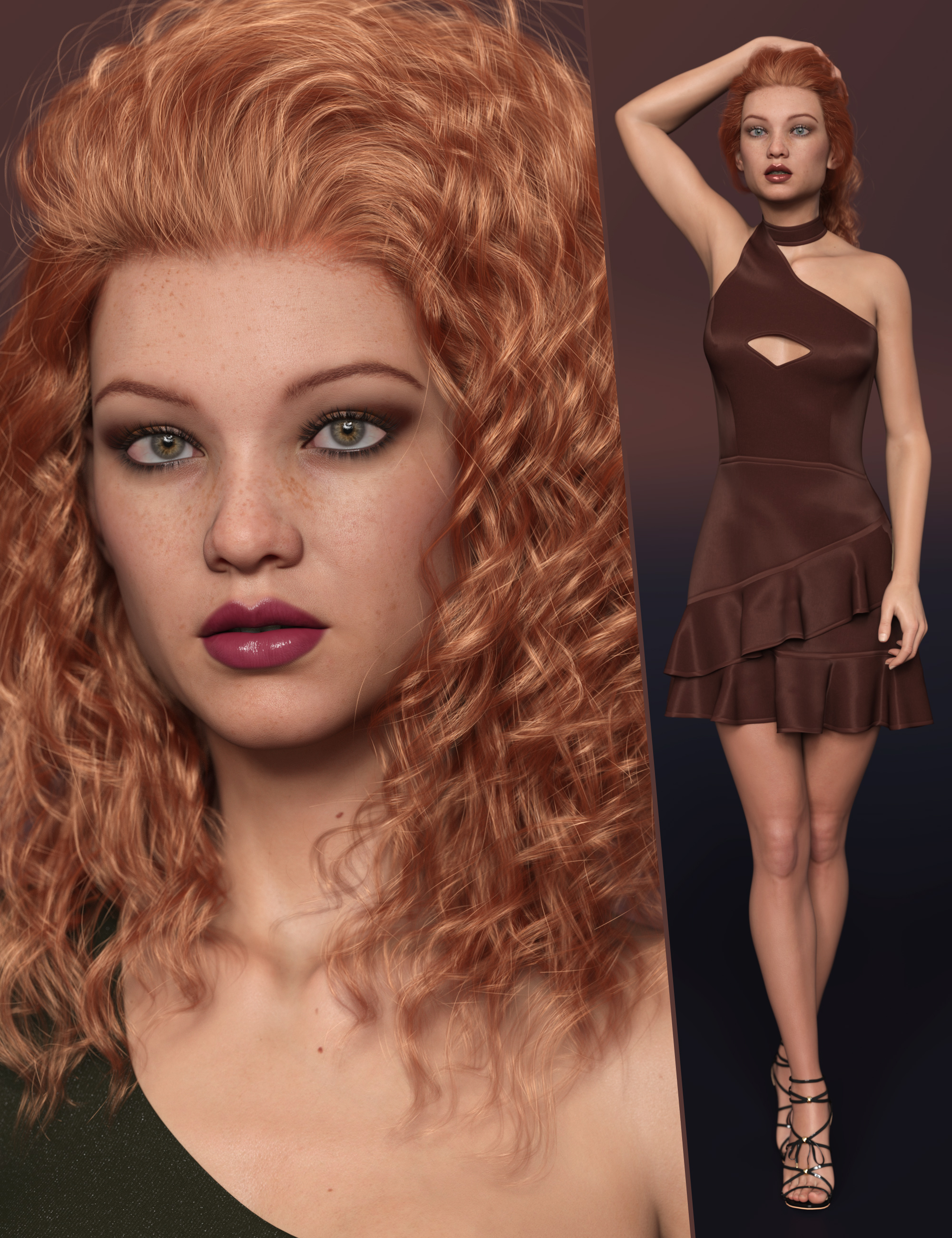 RY Norene Character and Hair Bundle by: outoftouchRaiya, 3D Models by Daz 3D