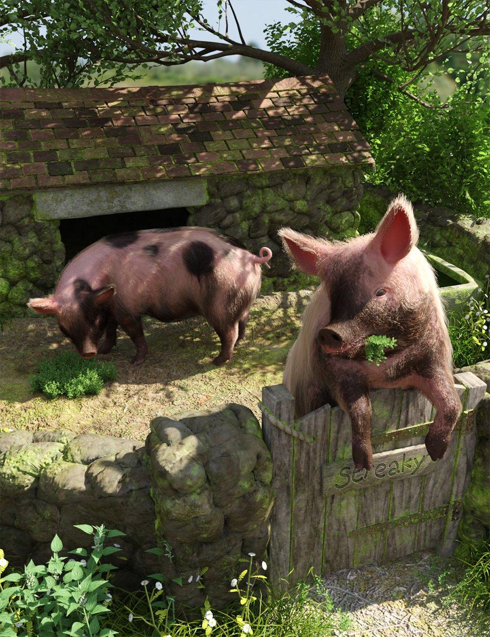 Pigsty by: Predatron, 3D Models by Daz 3D