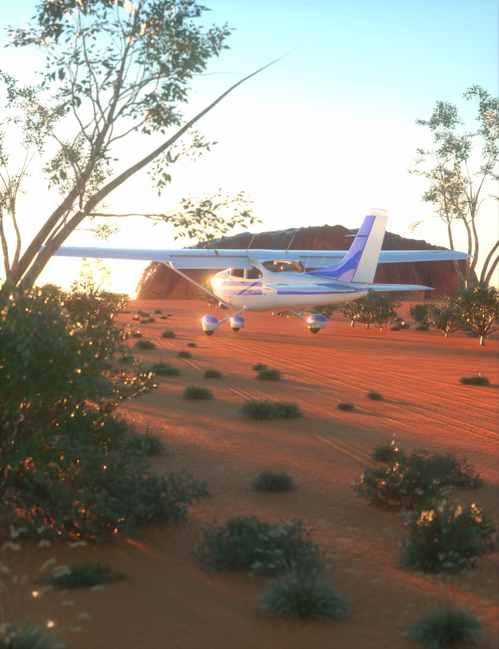 Australian Outback Environment by: AcharyaPolina, 3D Models by Daz 3D