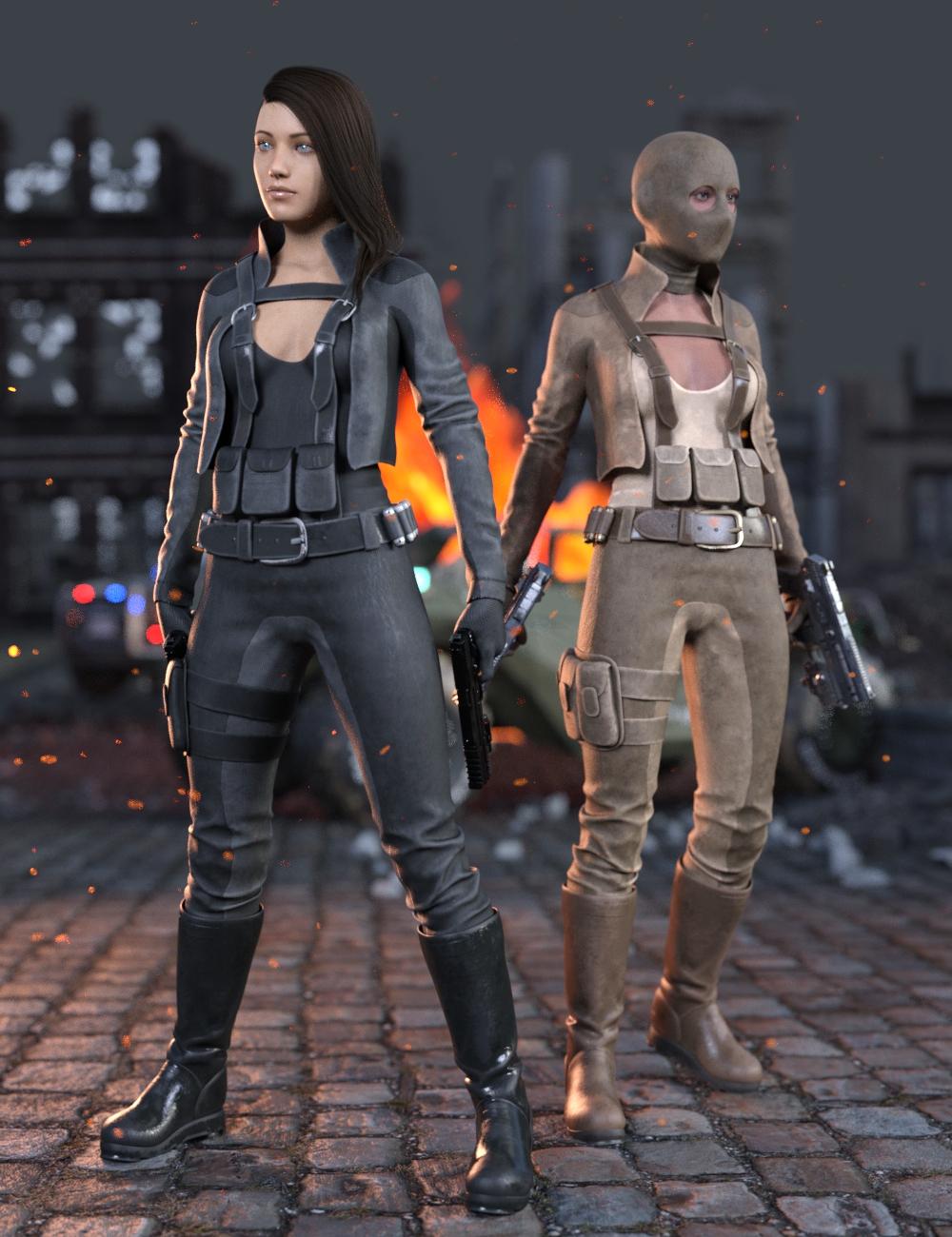 Rebel Militia Outfit for Genesis 8.1 Females by: Yura, 3D Models by Daz 3D