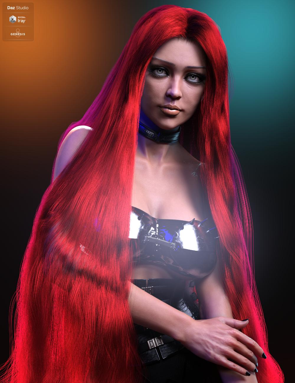 Hel Hair for Genesis 8.1 Female by: HM, 3D Models by Daz 3D