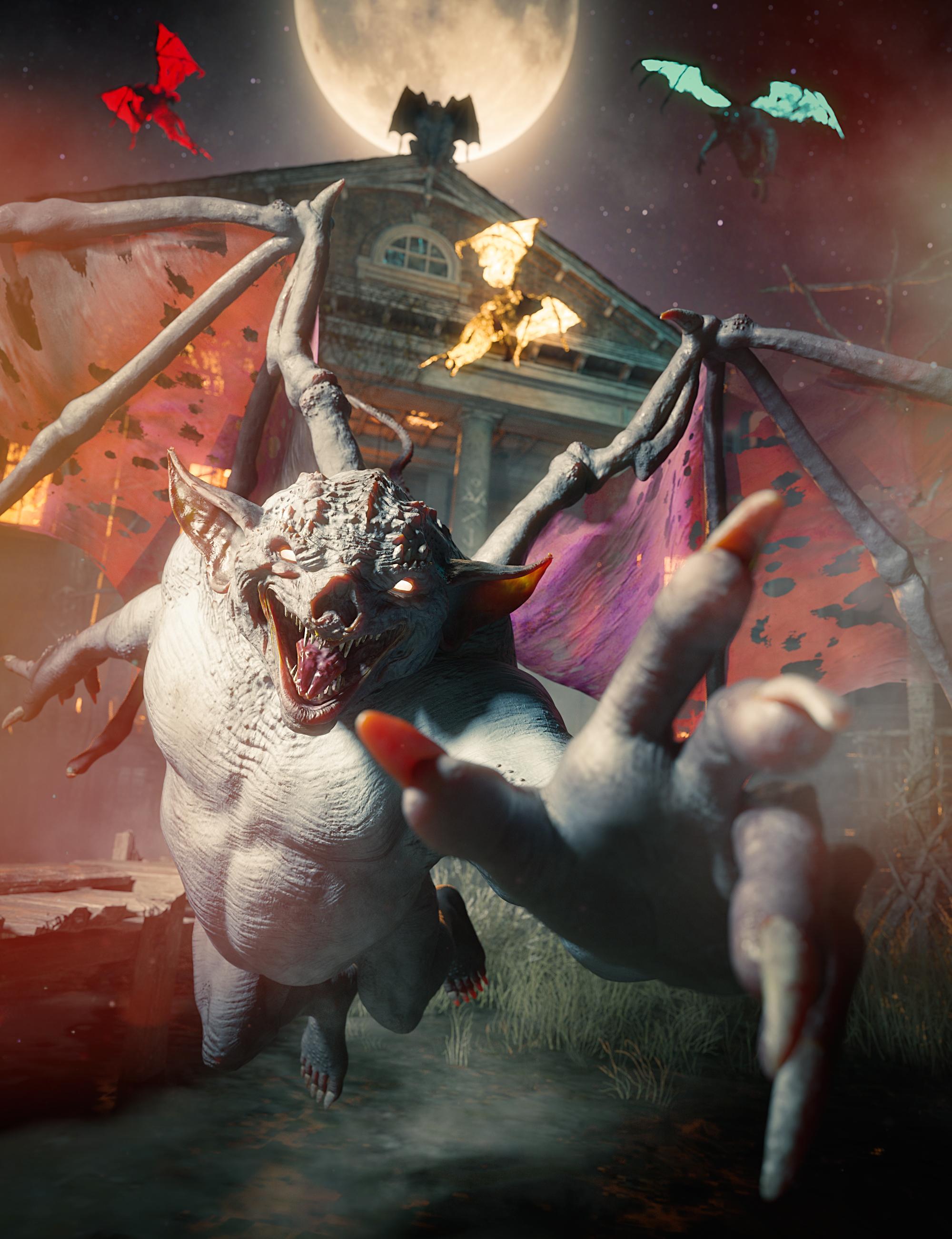 Gargoyle Guardian Bundle by: , 3D Models by Daz 3D