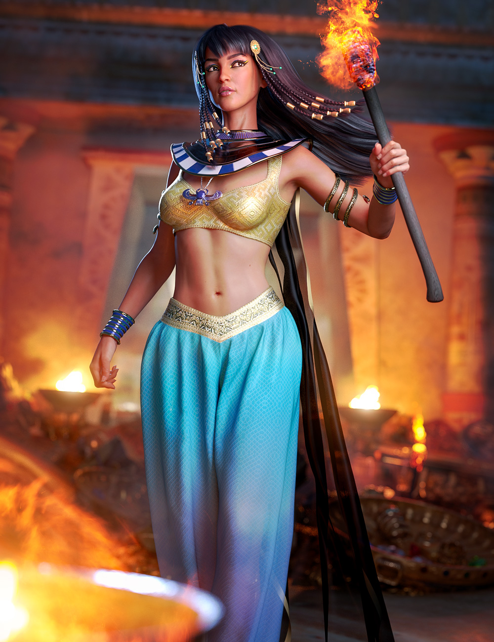 Cleopatra's Ancient Treasure Bundle by: , 3D Models by Daz 3D
