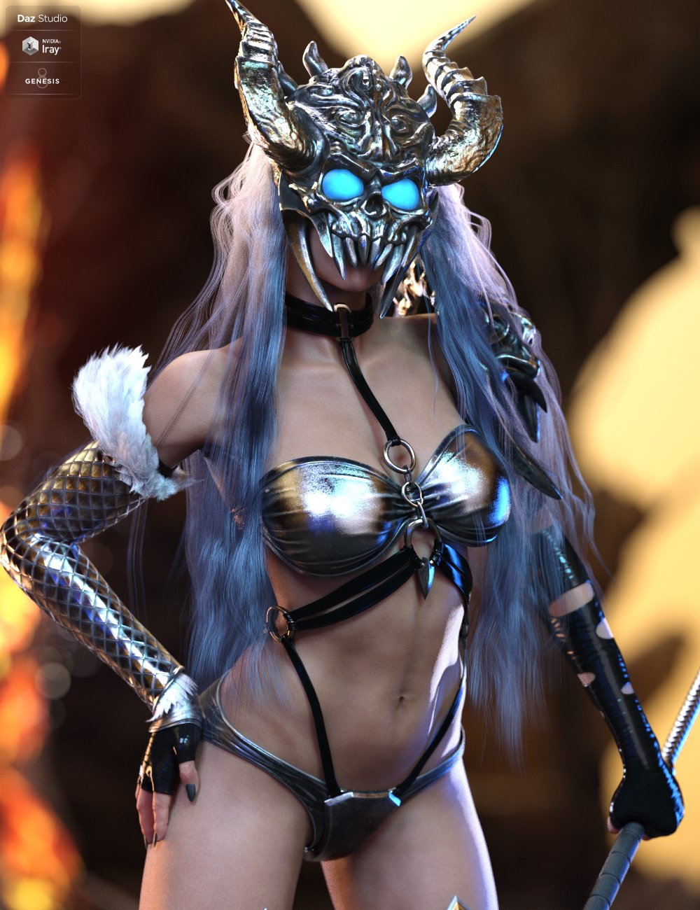 Hel Outfit And Weapon for Genesis 8.1 Female by: HM, 3D Models by Daz 3D