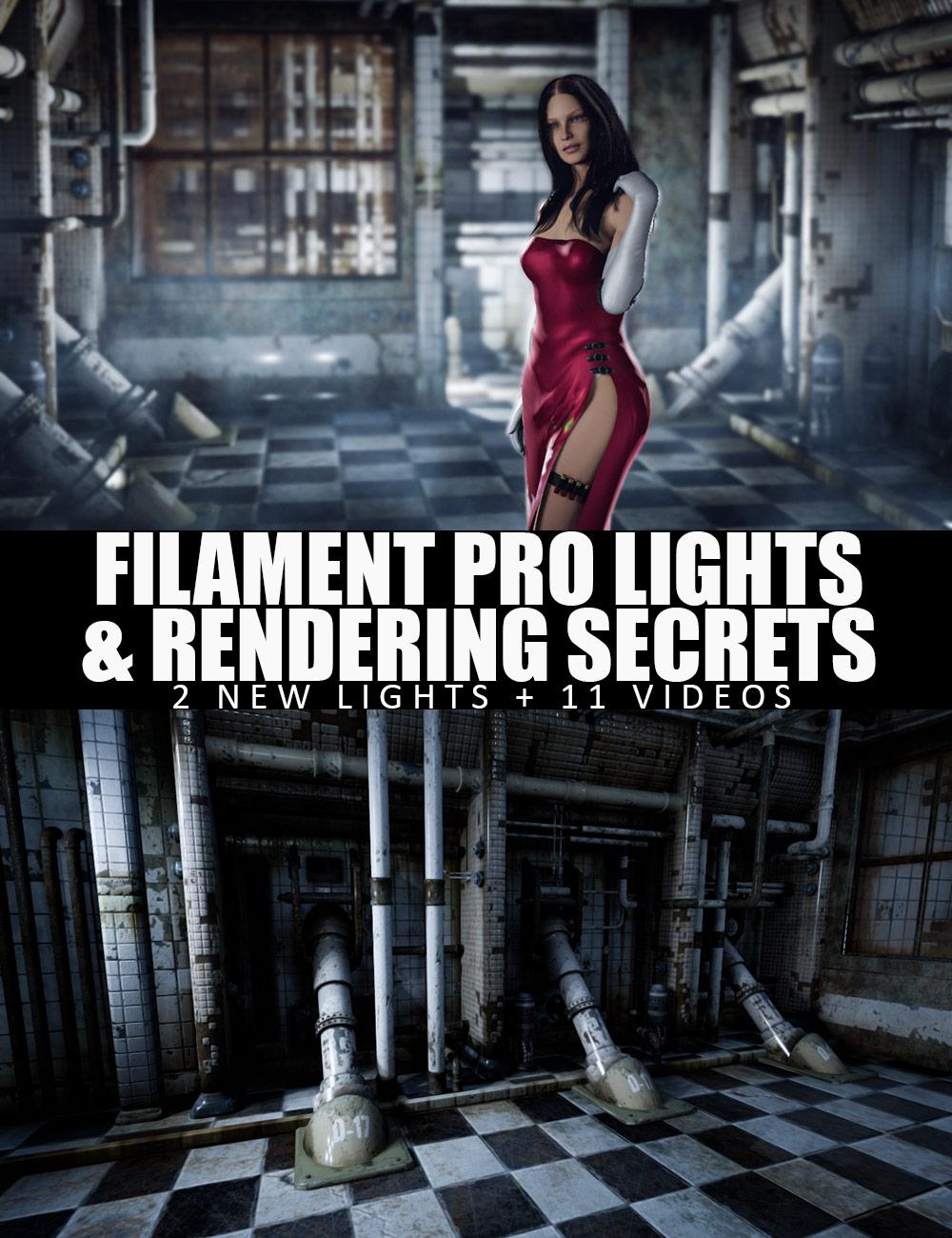 Filament PRO Lights And Rendering Secrets - 2 New Lights + Video Tutorial by: Dreamlight, 3D Models by Daz 3D