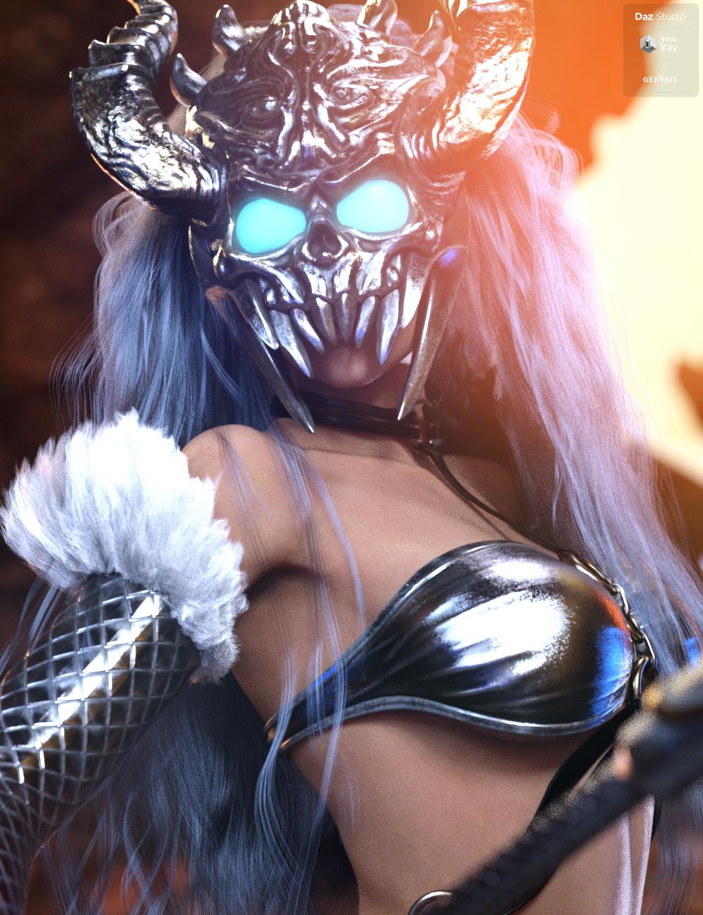 Hel The Goddess of Underworld Bundle by: HM, 3D Models by Daz 3D