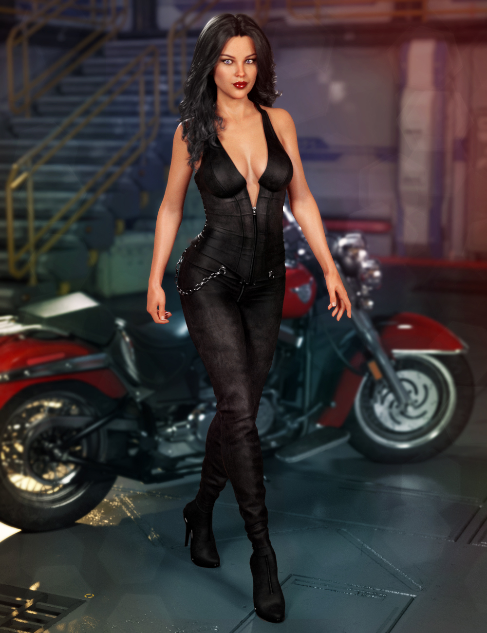 Assassin Angel Outfit for Genesis 8 Females by: 4blueyes, 3D Models by Daz 3D