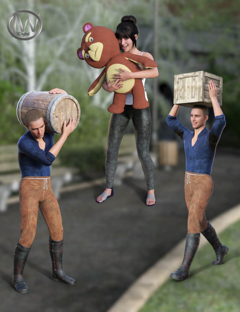 Carry It - Poses for Genesis 8.1 by: JWolf, 3D Models by Daz 3D