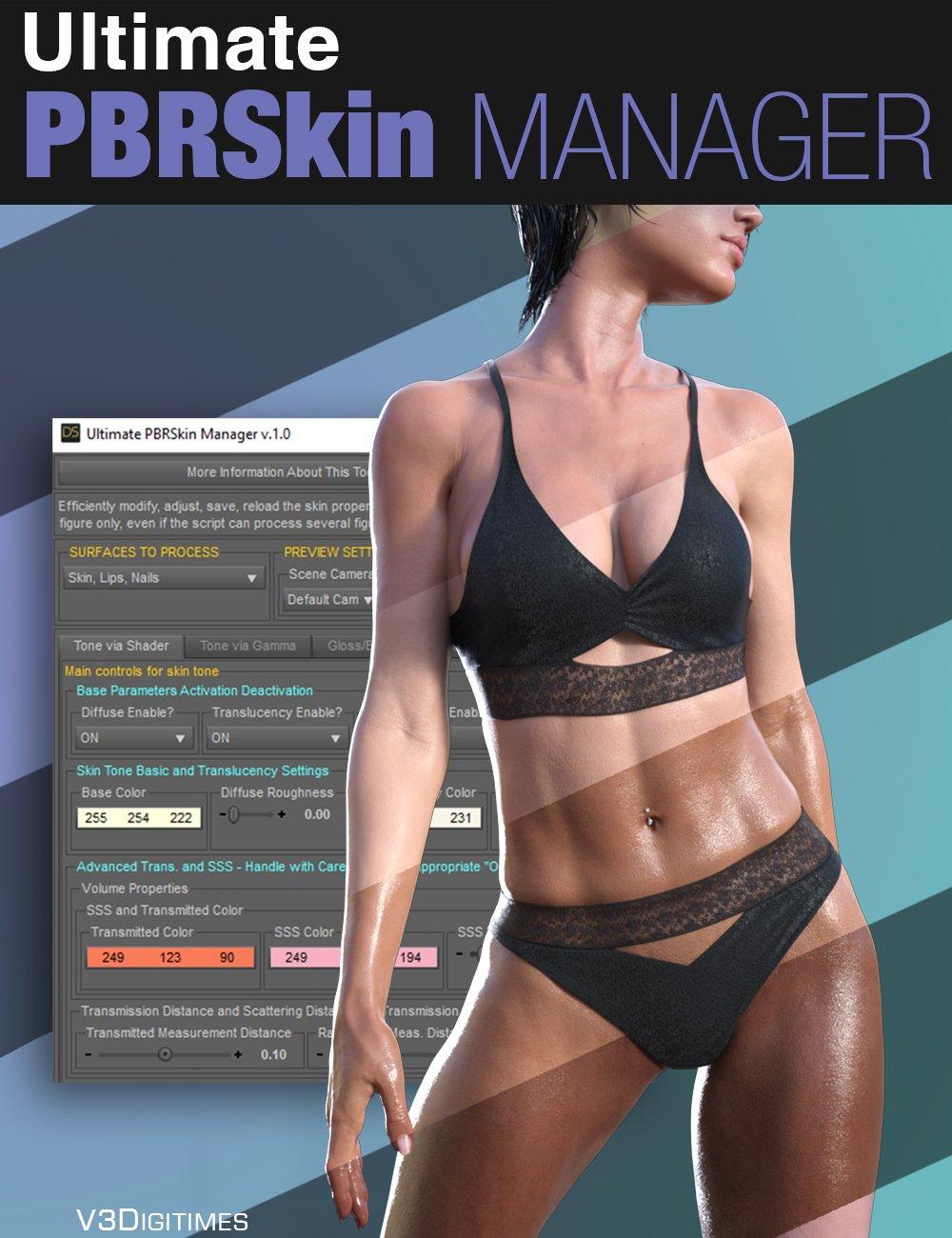 Ultimate PBRSkin Manager by: V3Digitimes, 3D Models by Daz 3D