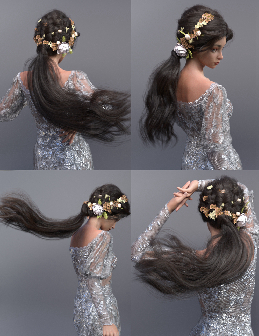 Kent Hair for Genesis 8.1 Female by: Ergou, 3D Models by Daz 3D