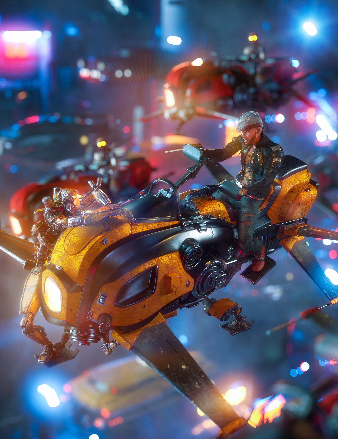 Dystopian Rider Bundle by: , 3D Models by Daz 3D