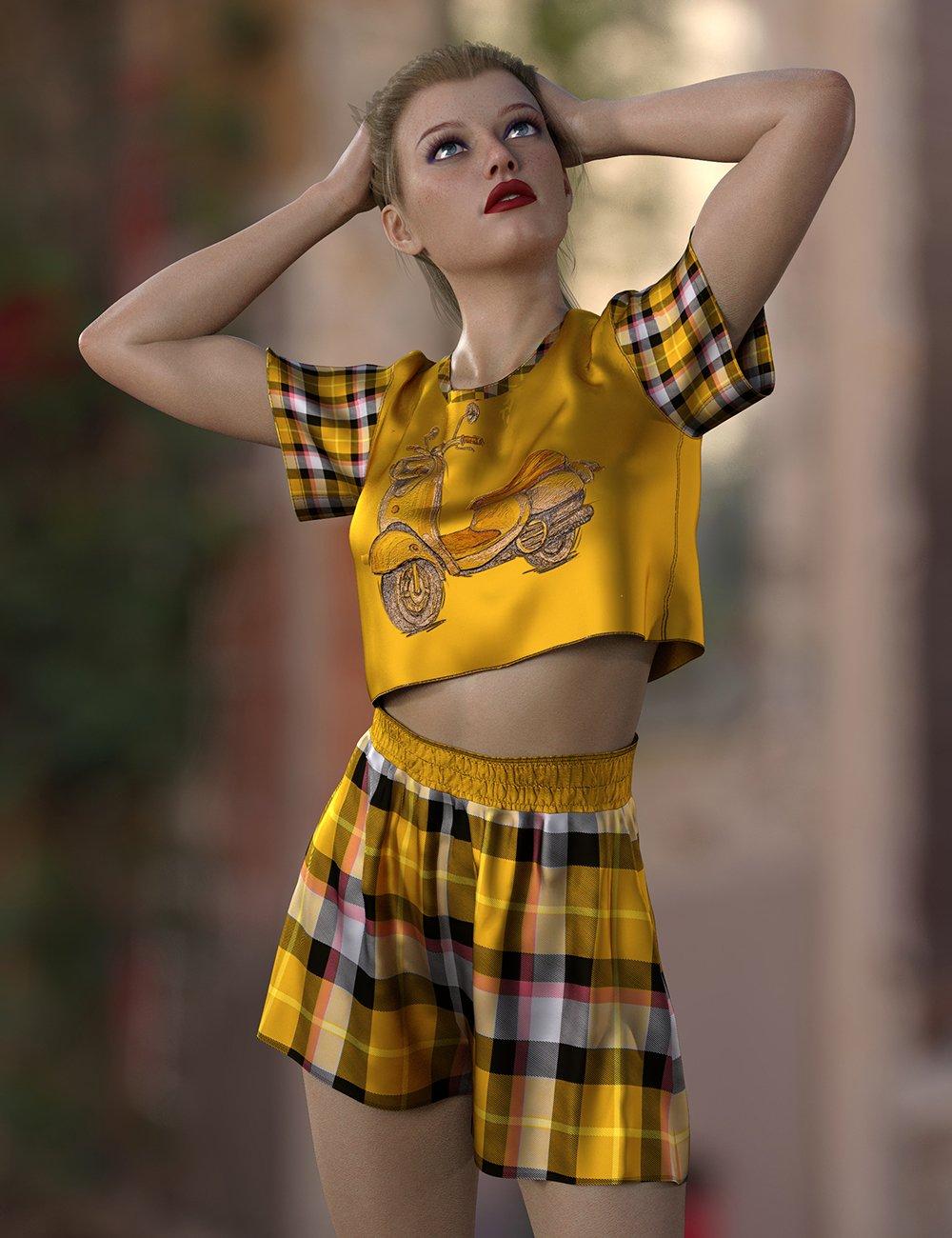 dForce Lily Outfit Texture Expansion by: Nelmi, 3D Models by Daz 3D