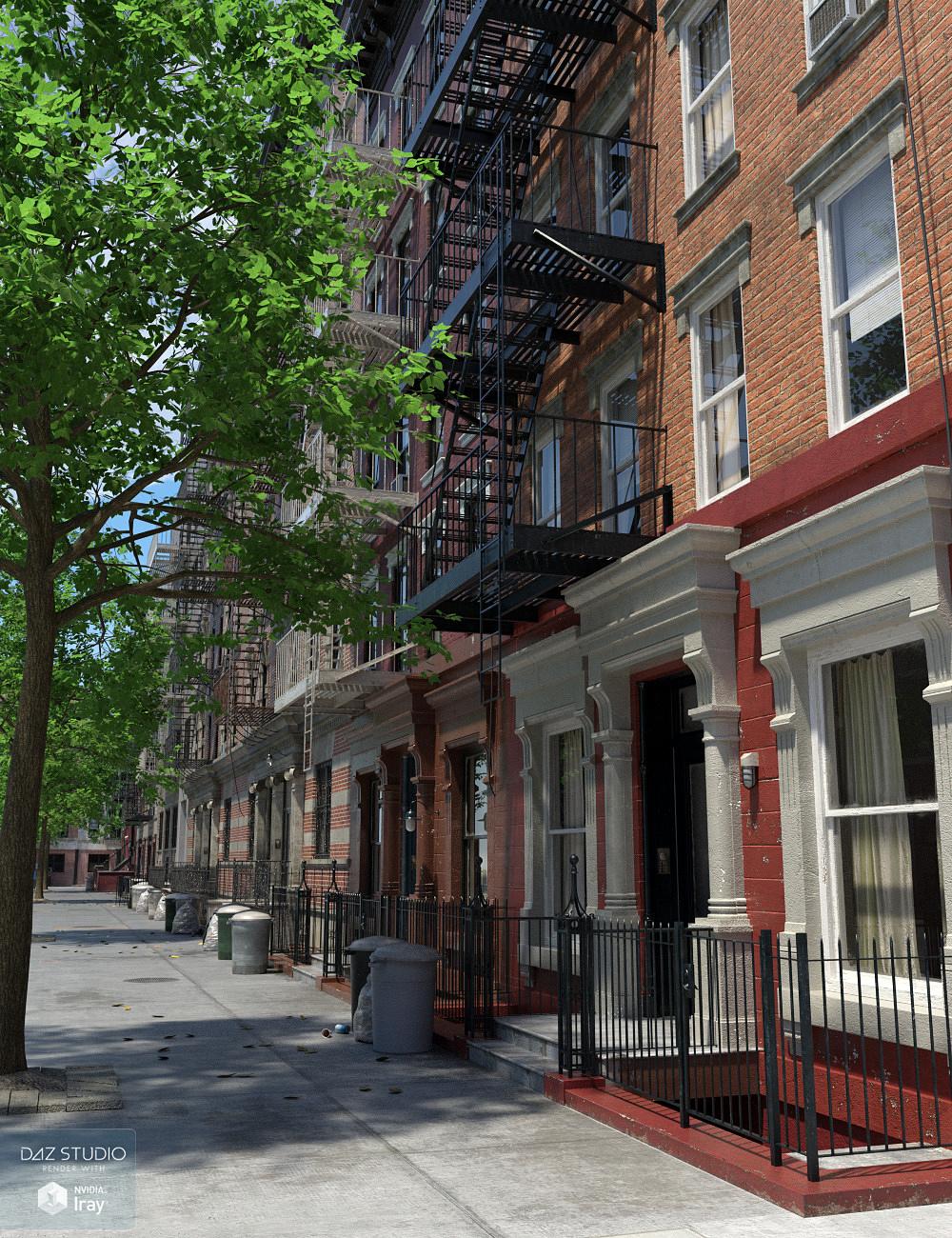 New York Tenements 2 by: Aurelio, 3D Models by Daz 3D