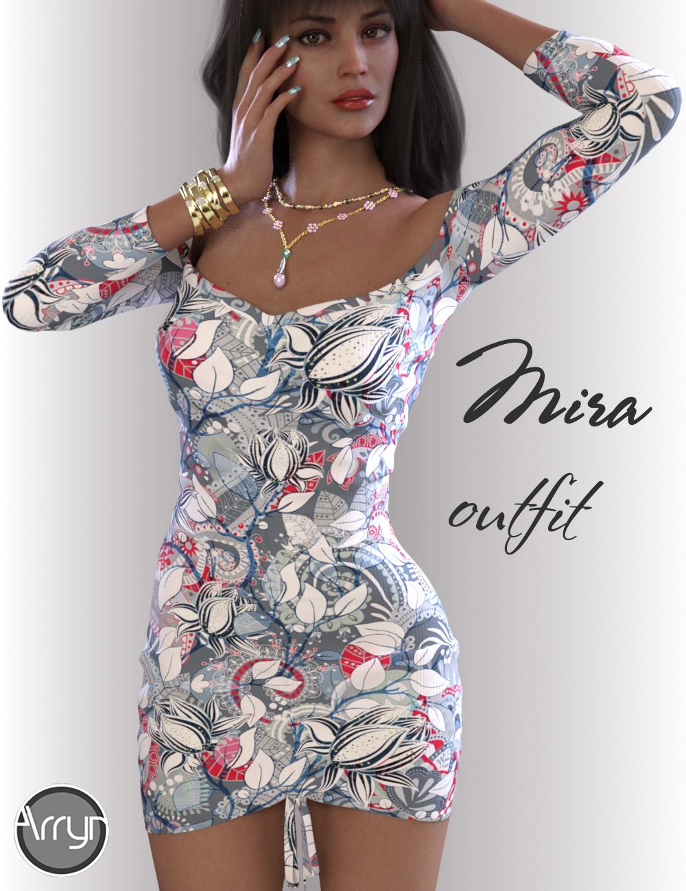 dForce Mira Outfit for Genesis 8.1 Females by: OnnelArryn, 3D Models by Daz 3D