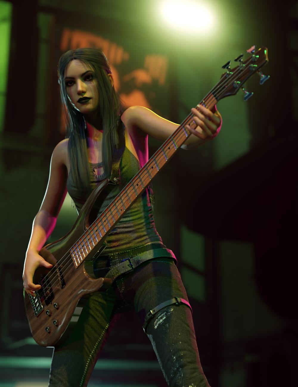 Rock Star Series - Modern Bass by: Sixus1 Media, 3D Models by Daz 3D