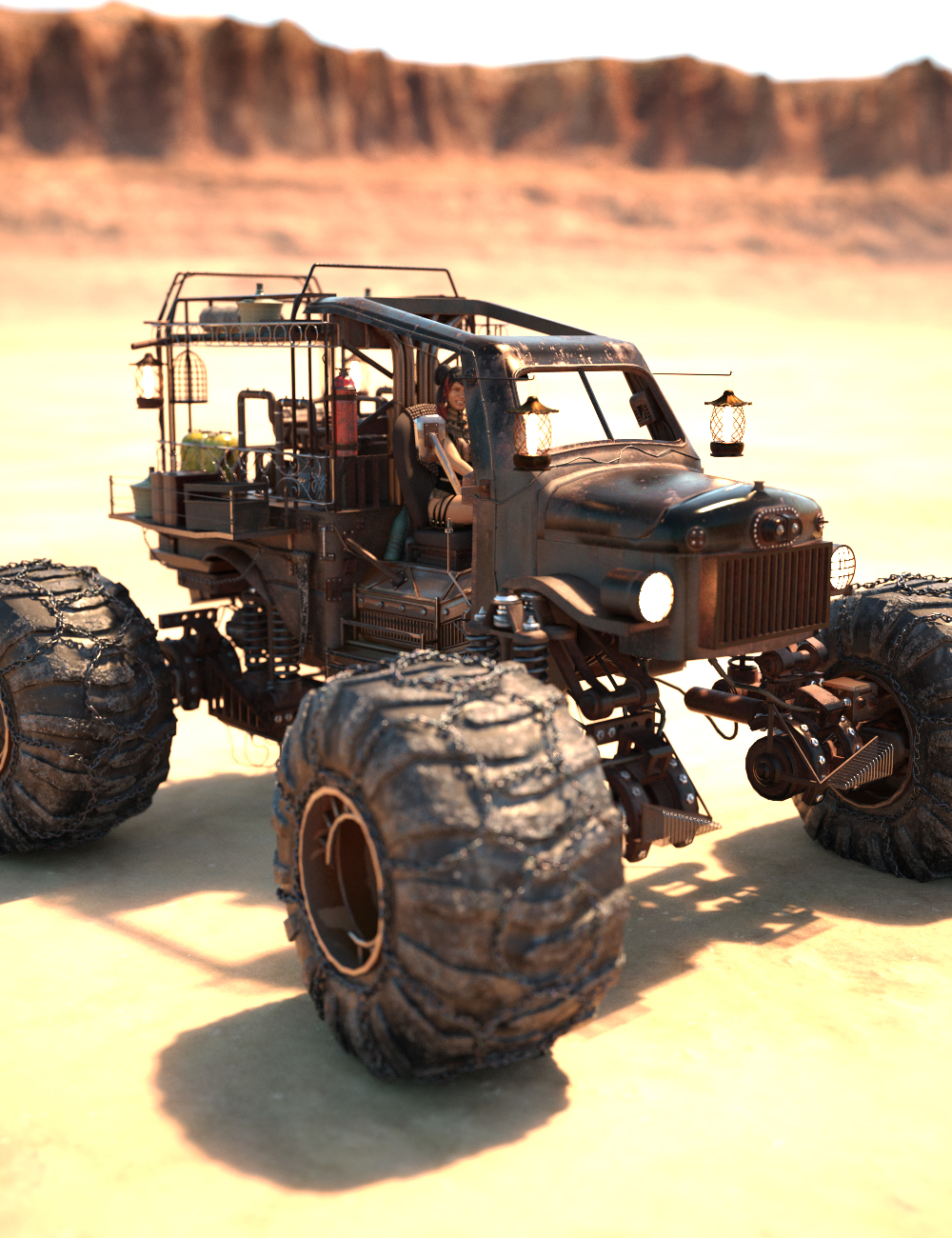 Wasteland Offroader by: Charlie, 3D Models by Daz 3D