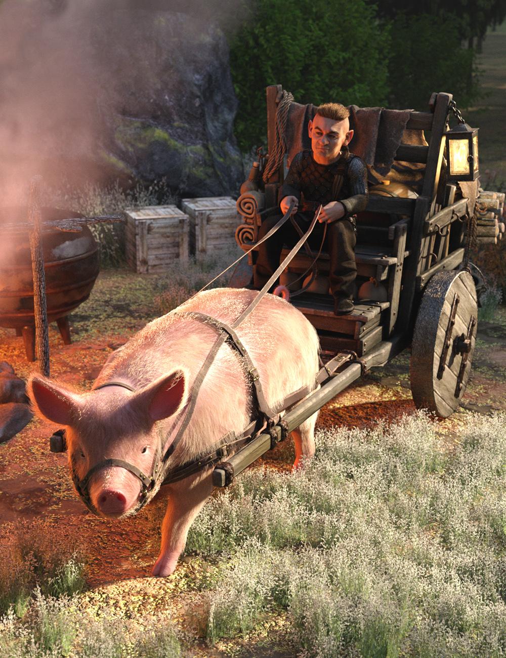 Pig Cart by: Predatron, 3D Models by Daz 3D