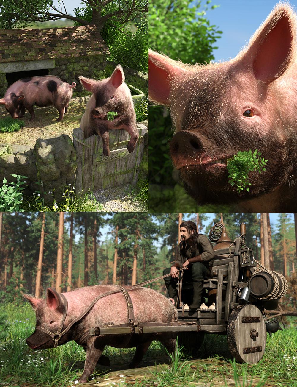 LoREZ Pig 2 Bundle by: Predatron, 3D Models by Daz 3D