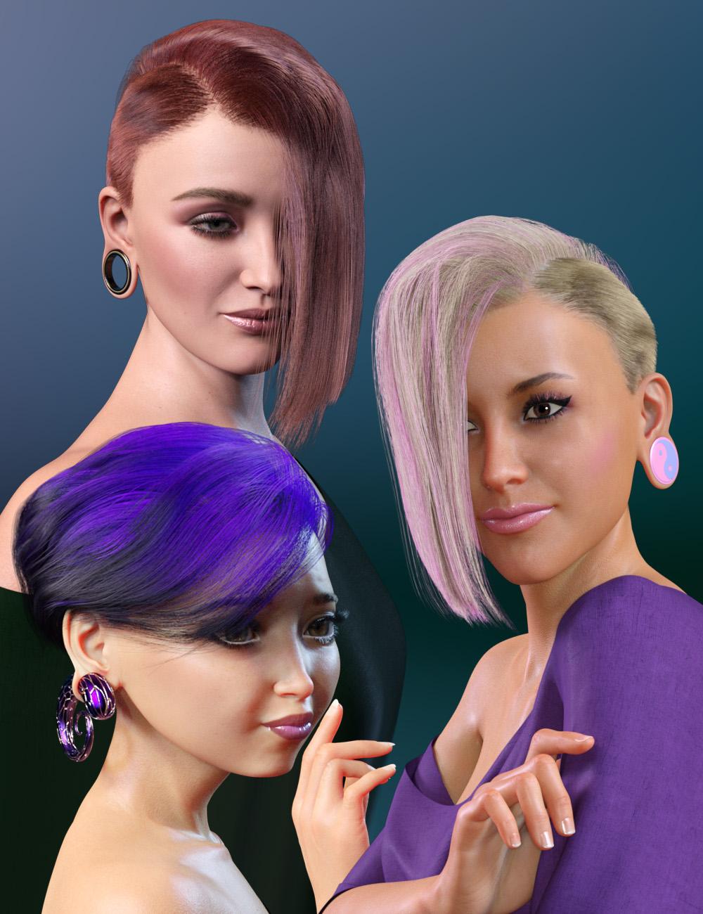WD Salon: Asymmetrical Wedge Cut dForce Hair for Genesis 8.1 Female by: WillDupre, 3D Models by Daz 3D