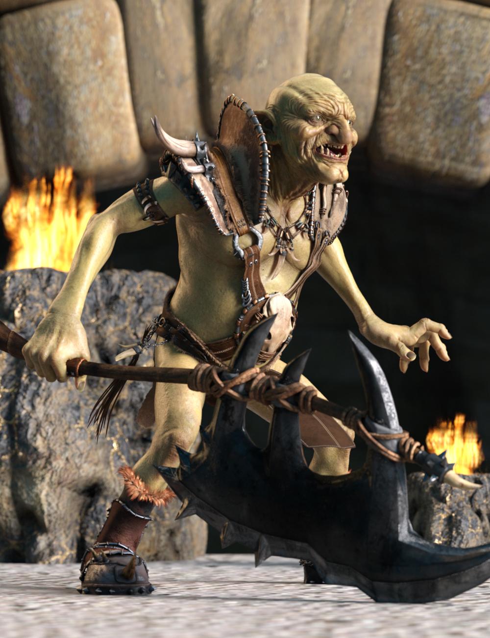 Warrior Goblin Poses for War Goblin HD by: Ensary, 3D Models by Daz 3D