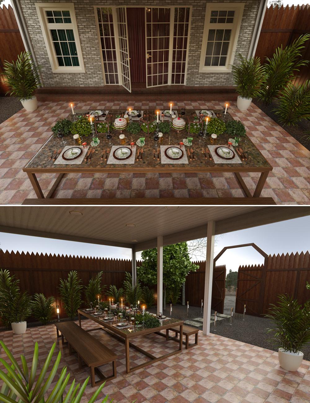 St. Patrick's Dinner by: bituka3d, 3D Models by Daz 3D
