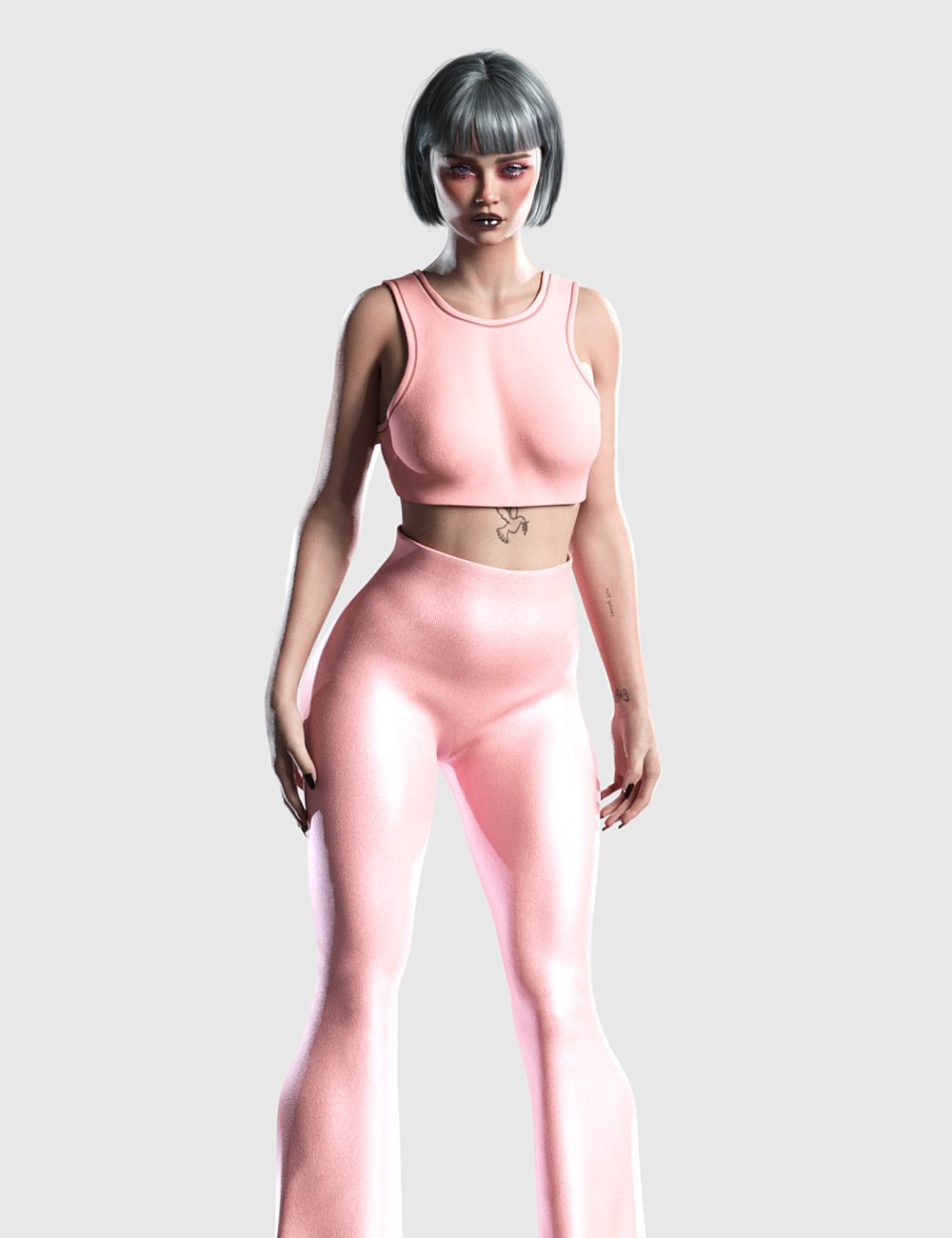 dForce Flare Outfit for Genesis 8 and 8.1 Females by: Romeo, 3D Models by Daz 3D