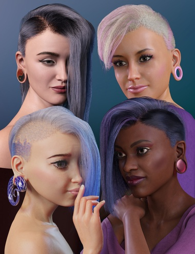 Gauged Bundle for Genesis 8.1 Female by: WillDupre, 3D Models by Daz 3D