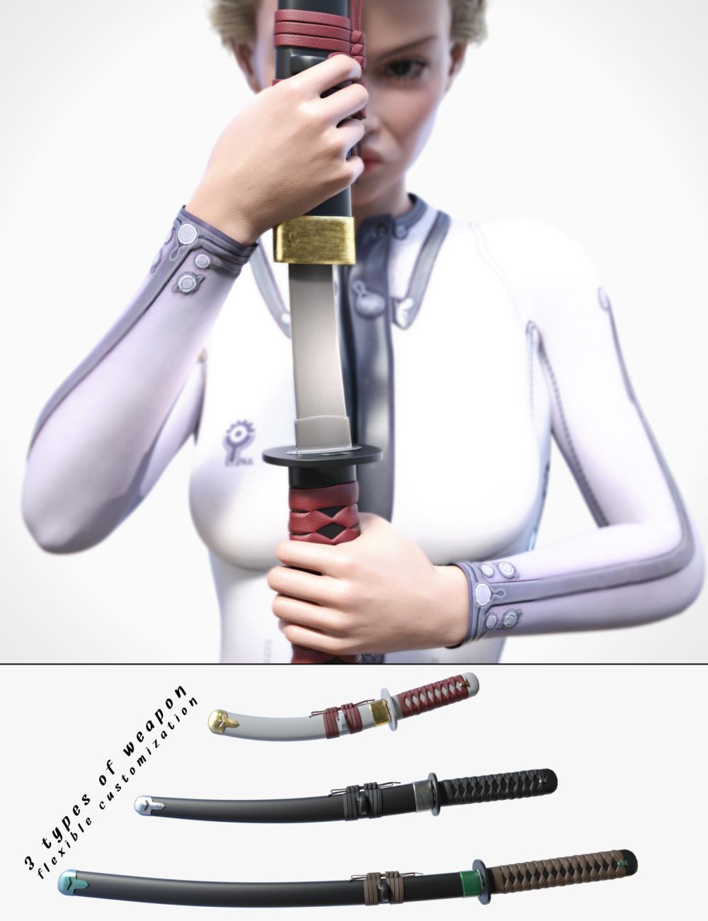 Far East Weapons by: Neikdian, 3D Models by Daz 3D