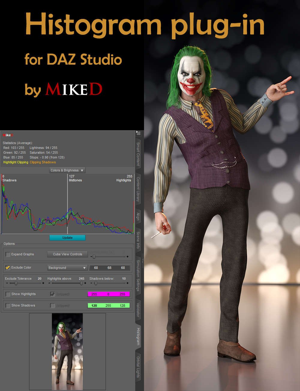 Histogram Plugin (PC) by: MikeD, 3D Models by Daz 3D