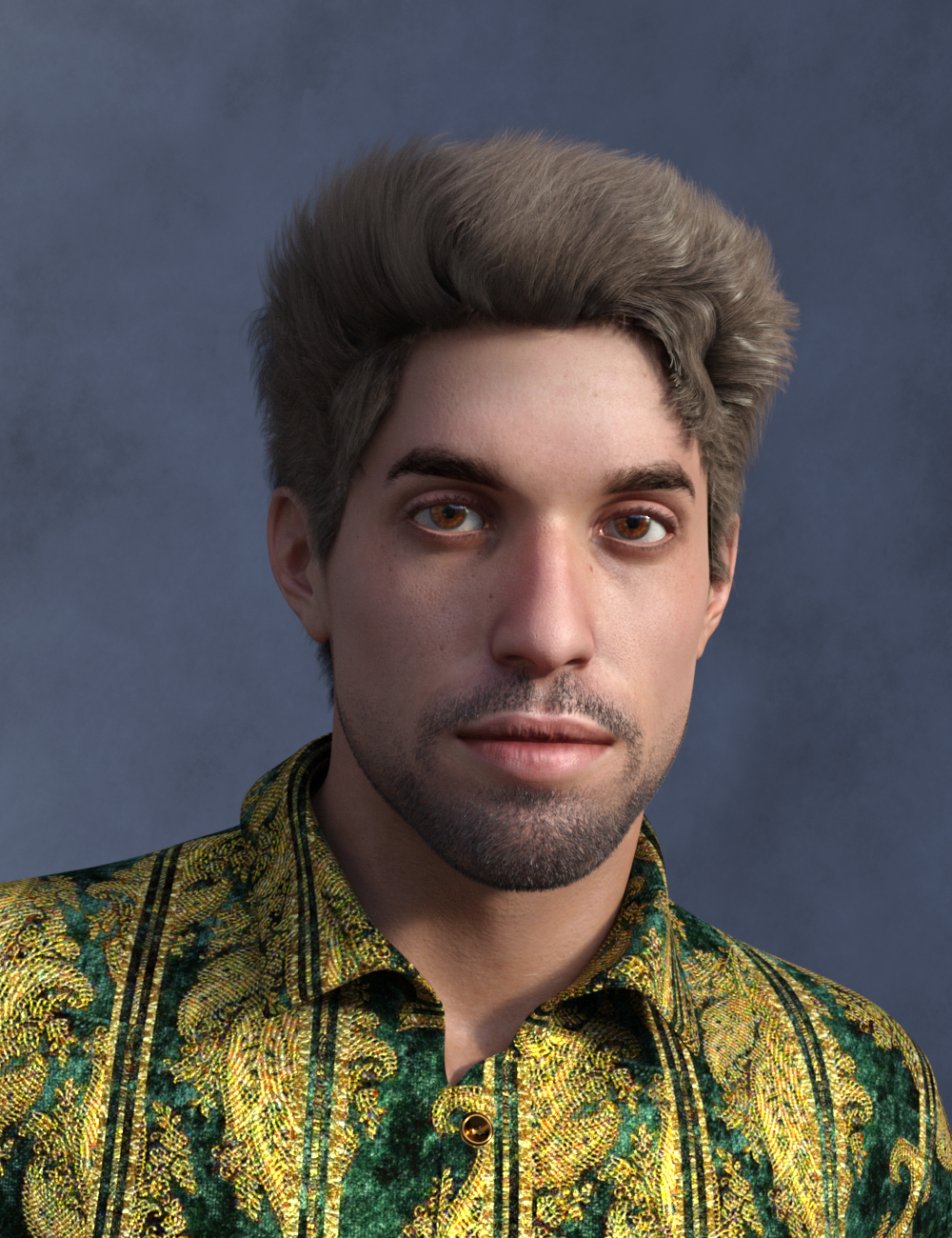 Mick, Hair and dForce Outfit for Mick Genesis 8 and 8.1 Males by: Vyusur, 3D Models by Daz 3D