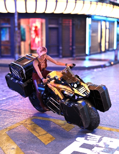 Cyberpunk Motorcycle by: Charlie, 3D Models by Daz 3D