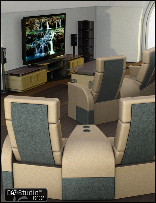Dream Home: Media Room Accessories by: , 3D Models by Daz 3D