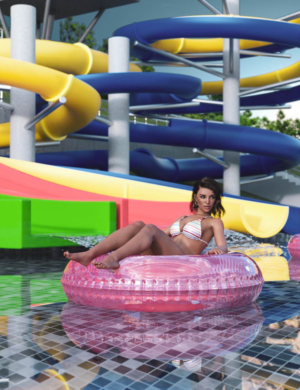Water Park by: Modu8, 3D Models by Daz 3D