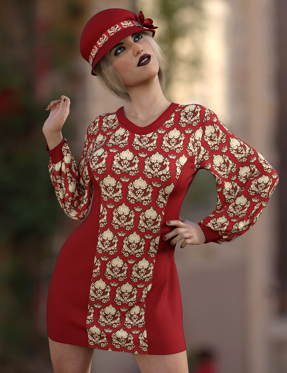 Micro Mini Dress Outfit Texture Expansion by: Nelmi, 3D Models by Daz 3D