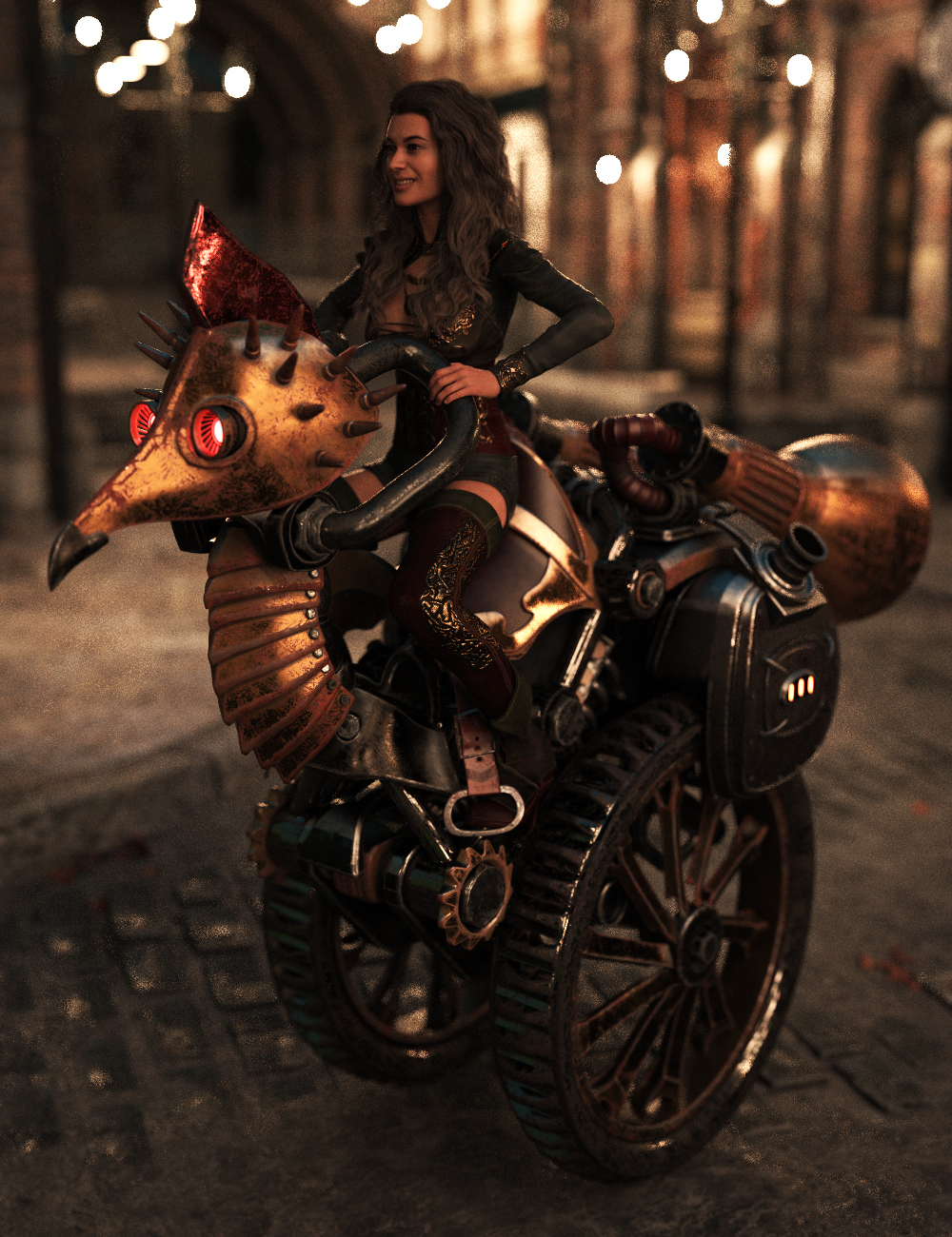 Steampunk Bird by: Charlie, 3D Models by Daz 3D