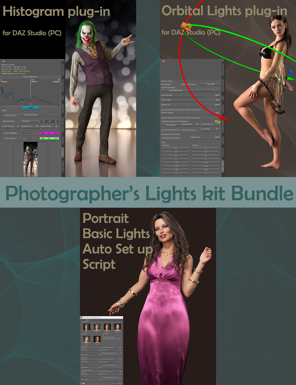 MD Photographer's Lights Kit Bundle by: MikeD, 3D Models by Daz 3D