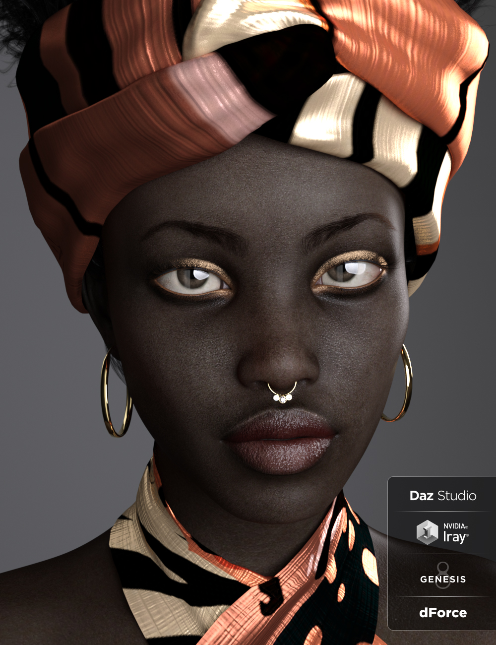 BD Oshun And Her Outfit For Genesis 8 Female by: Belladona, 3D Models by Daz 3D