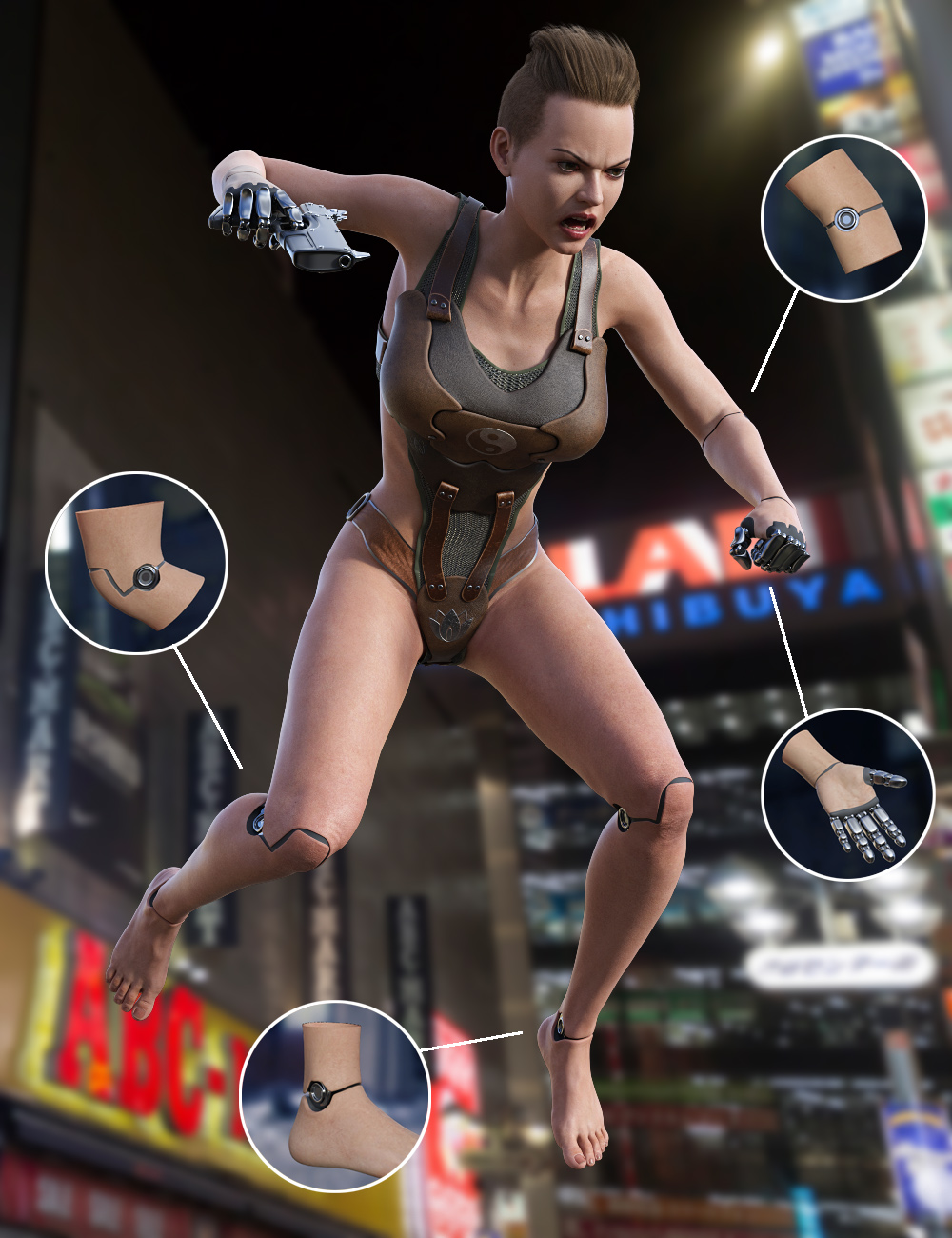 Cyber Implants for Genesis 8 Females by: midnight_stories, 3D Models by Daz 3D