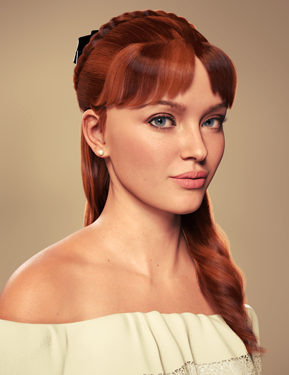 Debutante Hair for Genesis 8 and 8.1 Female by: Toyen, 3D Models by Daz 3D