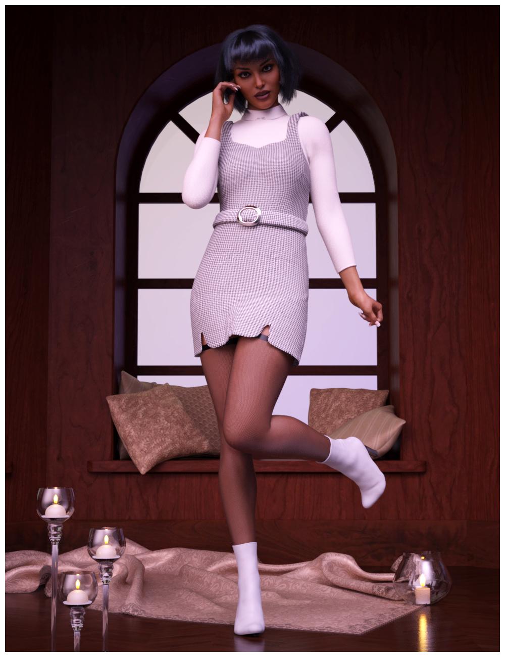 dForce Karine Mode for Genesis 8 Females by: Nathy, 3D Models by Daz 3D