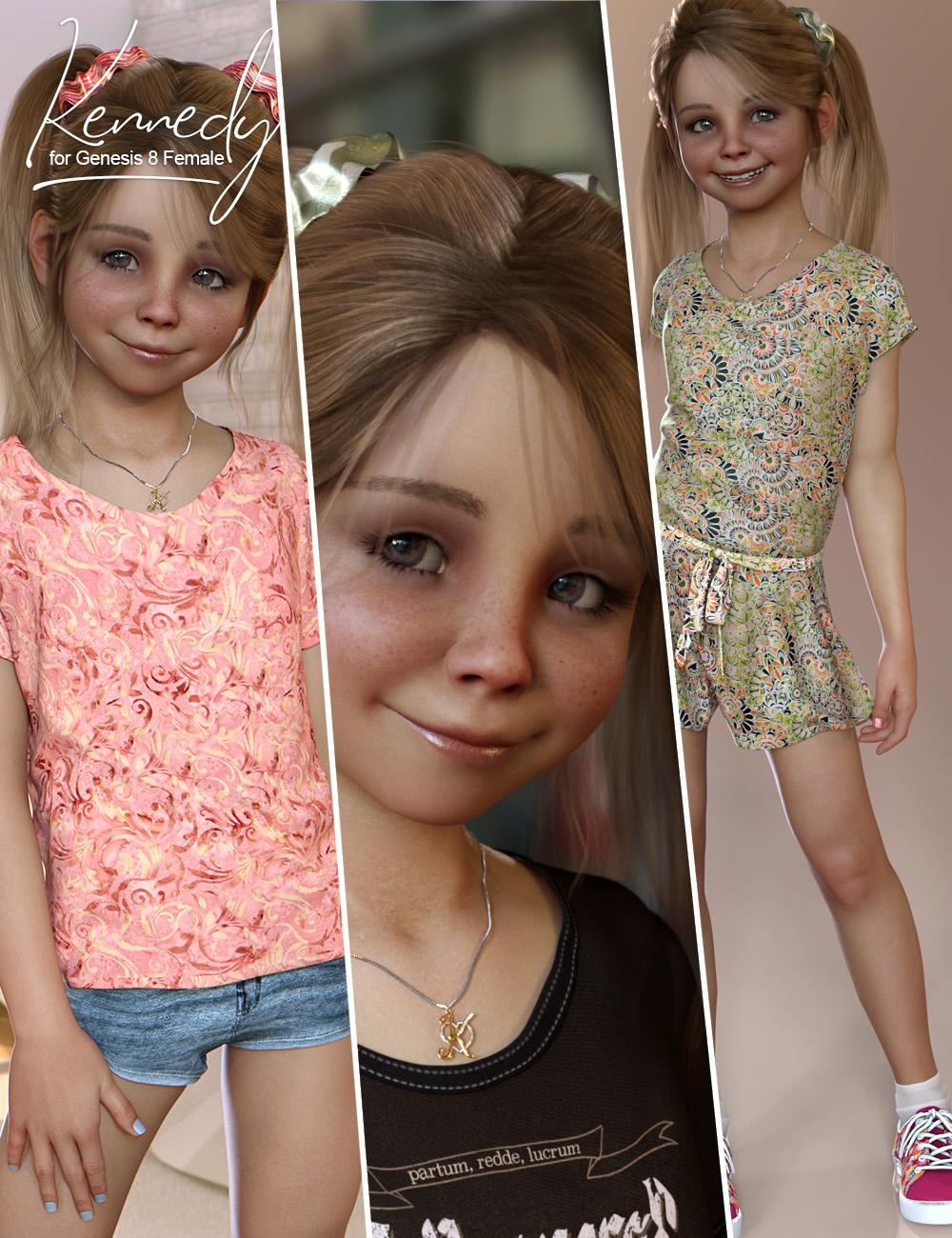 Kennedy Bundle for Genesis 8 Female(s) by: 3D Universe, 3D Models by Daz 3D