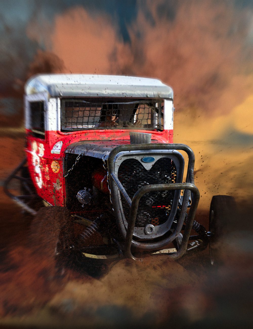 Dirt Track Racer by: Ansiko, 3D Models by Daz 3D