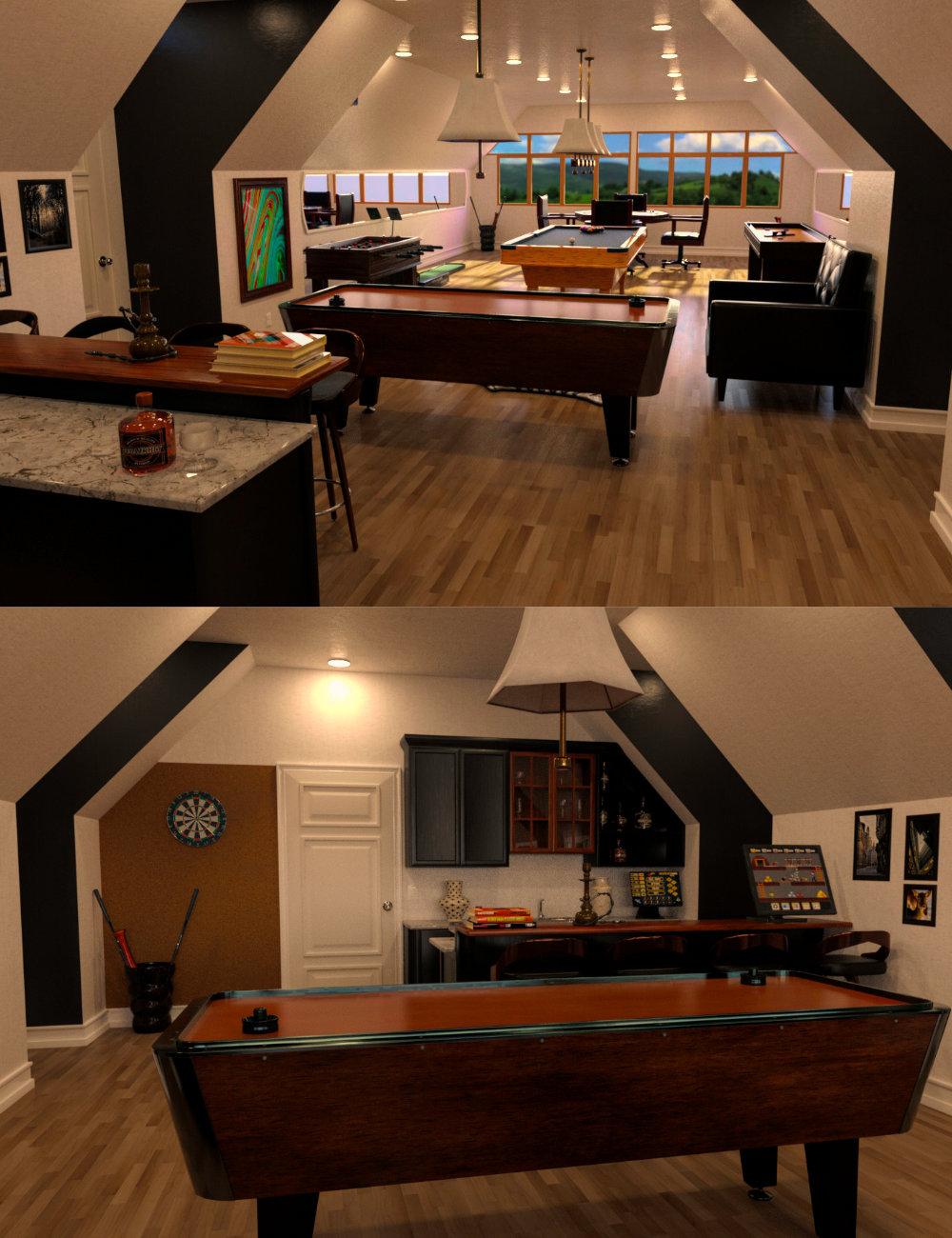 FG Entertainment Room by: Fugazi1968PAN StudiosIronman, 3D Models by Daz 3D