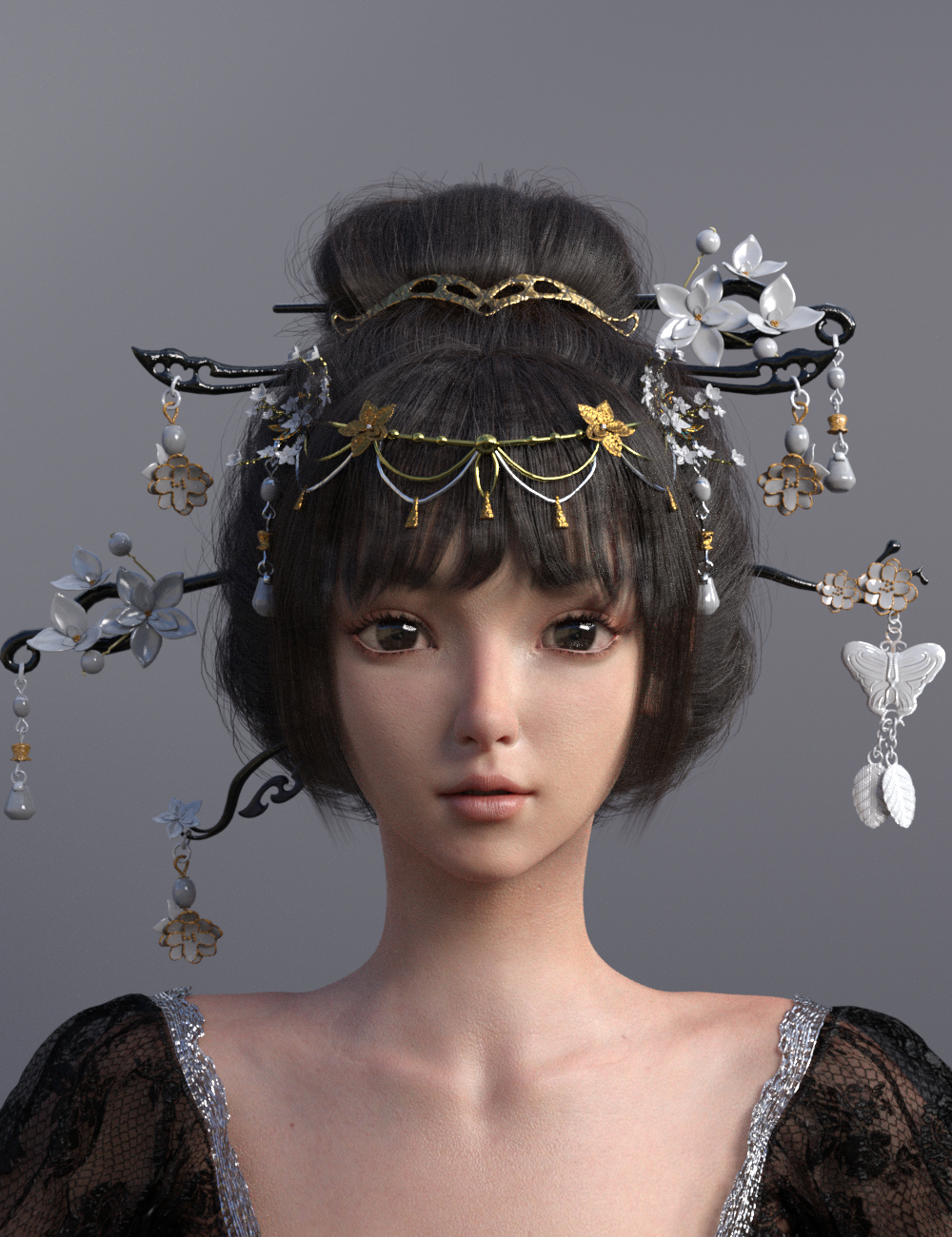 Luoqu for Genesis 8.1 Female by: Ergou, 3D Models by Daz 3D