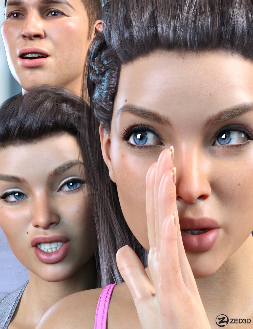 Z Conversation Mix and Match Expressions for Genesis 8.1 by: Zeddicuss, 3D Models by Daz 3D